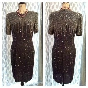 Stebay Silk Beaded Dress sz 6